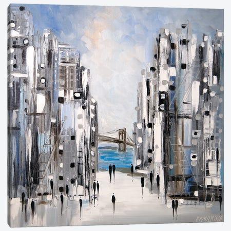 Brooklyn Bridge Canvas Print #ERM119} by Ekaterina Ermilkina Canvas Art Print
