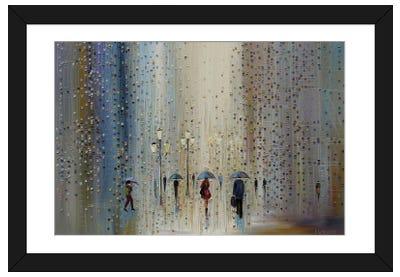 Under A Rainy Sky Framed Art Print