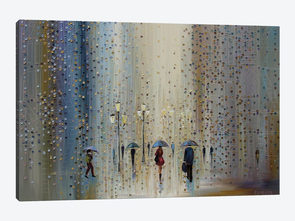 Under A Rainy Sky by Ekaterina Ermilkina 1-piece Canvas Print