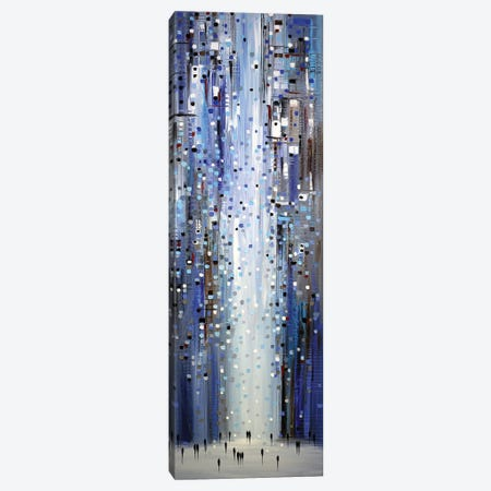 Blue Lights Canvas Print #ERM124} by Ekaterina Ermilkina Canvas Print