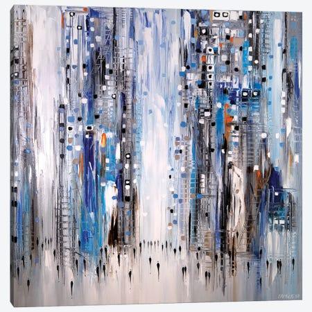 Vibrant City Stroll Canvas Print #ERM130} by Ekaterina Ermilkina Canvas Art Print