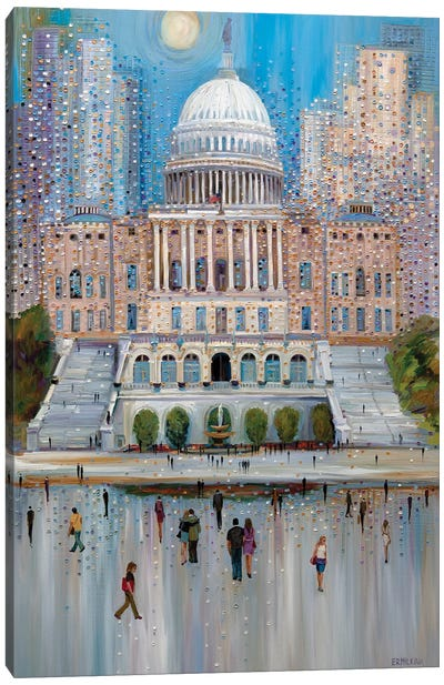 Washington DC Capitol Canvas Art Print