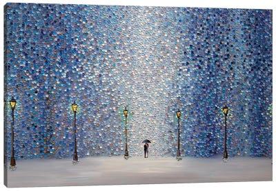 Kiss Under The Rain Canvas Art Print