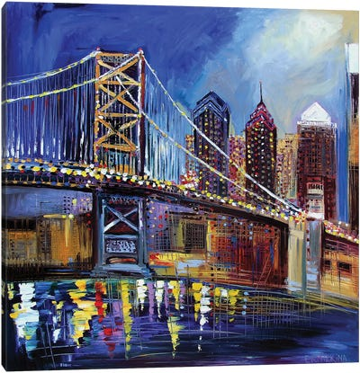 Benjamin Franklin Bridge Canvas Art Print