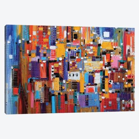 Big Apple Canvas Print #ERM17} by Ekaterina Ermilkina Canvas Art
