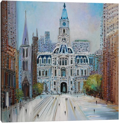 City Hall Philadelphia Canvas Art Print
