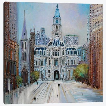 City Hall Philadelphia Canvas Print #ERM19} by Ekaterina Ermilkina Art Print