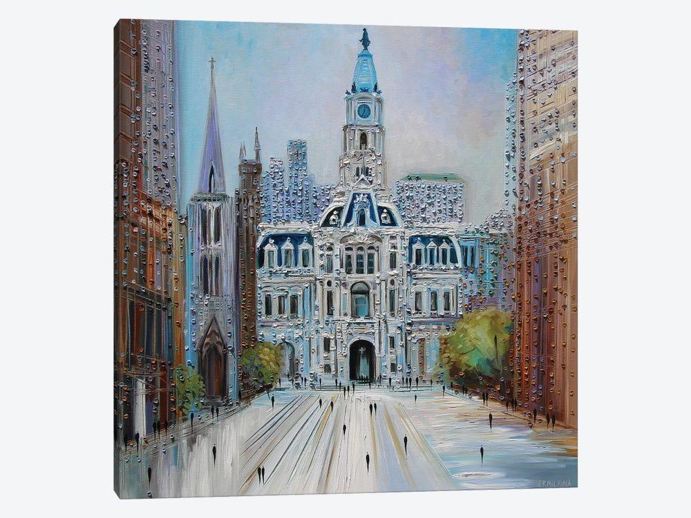 City Hall Philadelphia by Ekaterina Ermilkina 1-piece Canvas Print