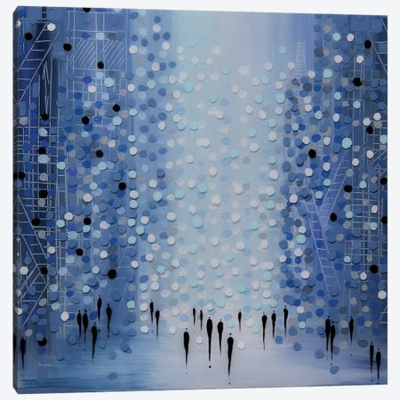 City in Blue Canvas Print #ERM21} by Ekaterina Ermilkina Canvas Wall Art