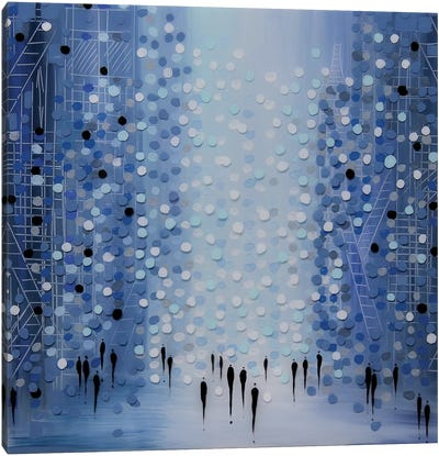 City in Blue Canvas Art Print
