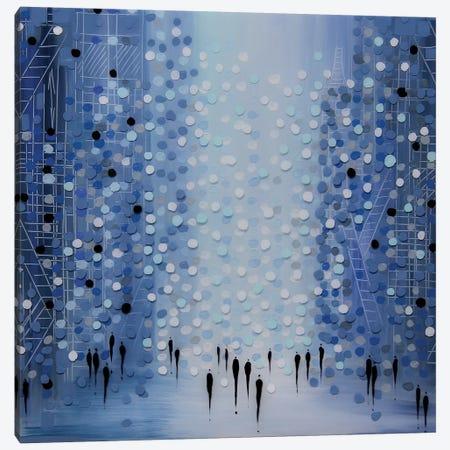 City in Blue Canvas Print #ERM21} by Ekaterina Ermilkina Canvas Wall Art