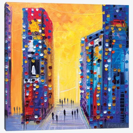City Walk Canvas Print #ERM24} by Ekaterina Ermilkina Canvas Print