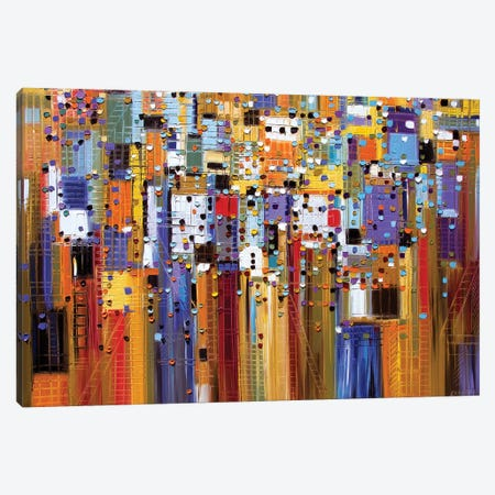 Colorful City Canvas Print #ERM27} by Ekaterina Ermilkina Canvas Print