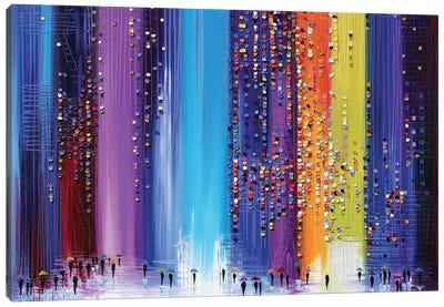 A Rainy Walk Canvas Art Print