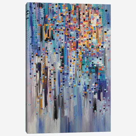 Happy City Canvas Print #ERM31} by Ekaterina Ermilkina Canvas Print