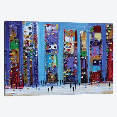 Manhattan Canvas Print #ERM34} by Ekaterina Ermilkina Canvas Wall Art