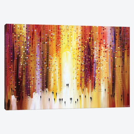 Manhattanhenge Canvas Print #ERM35} by Ekaterina Ermilkina Canvas Art