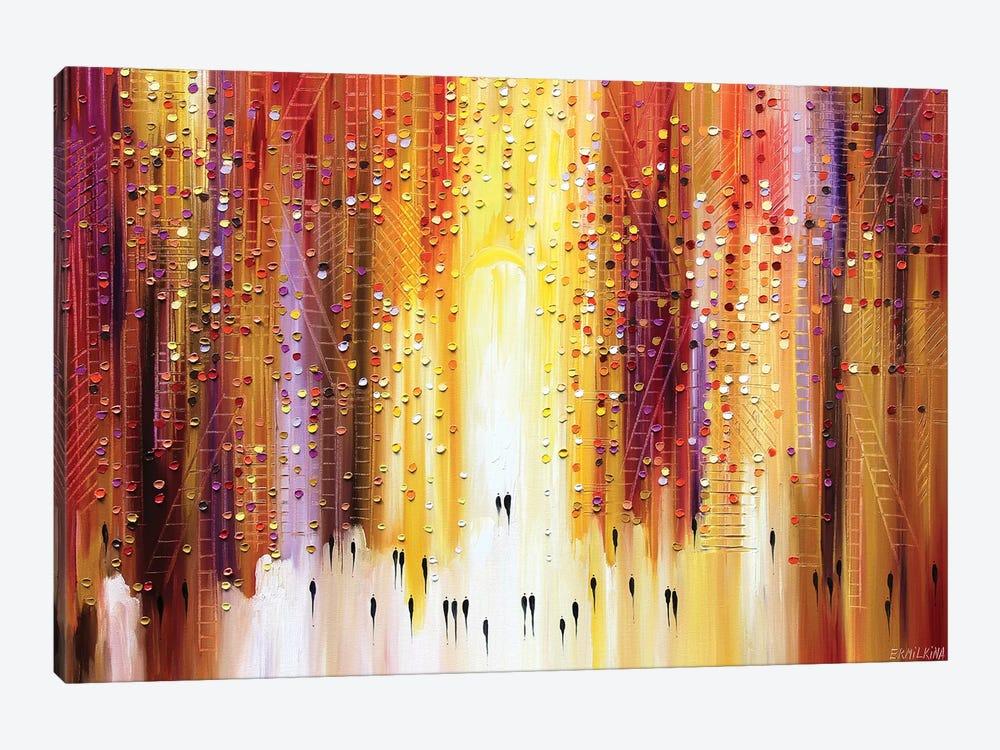 Manhattanhenge by Ekaterina Ermilkina 1-piece Canvas Art Print