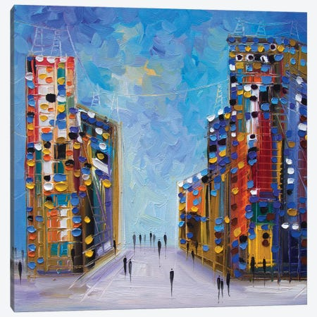 NYC Canvas Print #ERM41} by Ekaterina Ermilkina Canvas Art