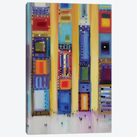 Party Time in the City Canvas Print #ERM42} by Ekaterina Ermilkina Canvas Wall Art