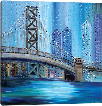 Philadelphia Bridge Canvas Art Print