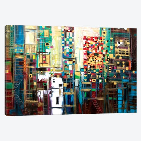 Golden City Canvas Print #ERM4} by Ekaterina Ermilkina Canvas Art Print