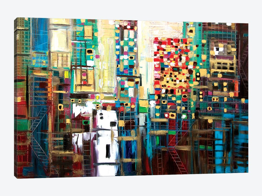 Golden City by Ekaterina Ermilkina 1-piece Canvas Art