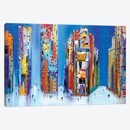 City At Night Canvas Print #ERM51} by Ekaterina Ermilkina Canvas Print