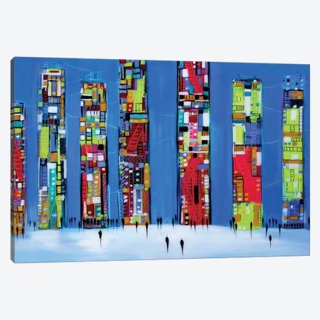 Manhattan Night Canvas Print #ERM5} by Ekaterina Ermilkina Canvas Art Print