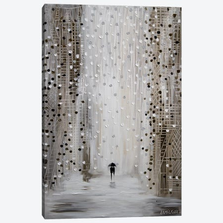 Under The Rain 3-Piece Canvas #ERM61} by Ekaterina Ermilkina Canvas Wall Art