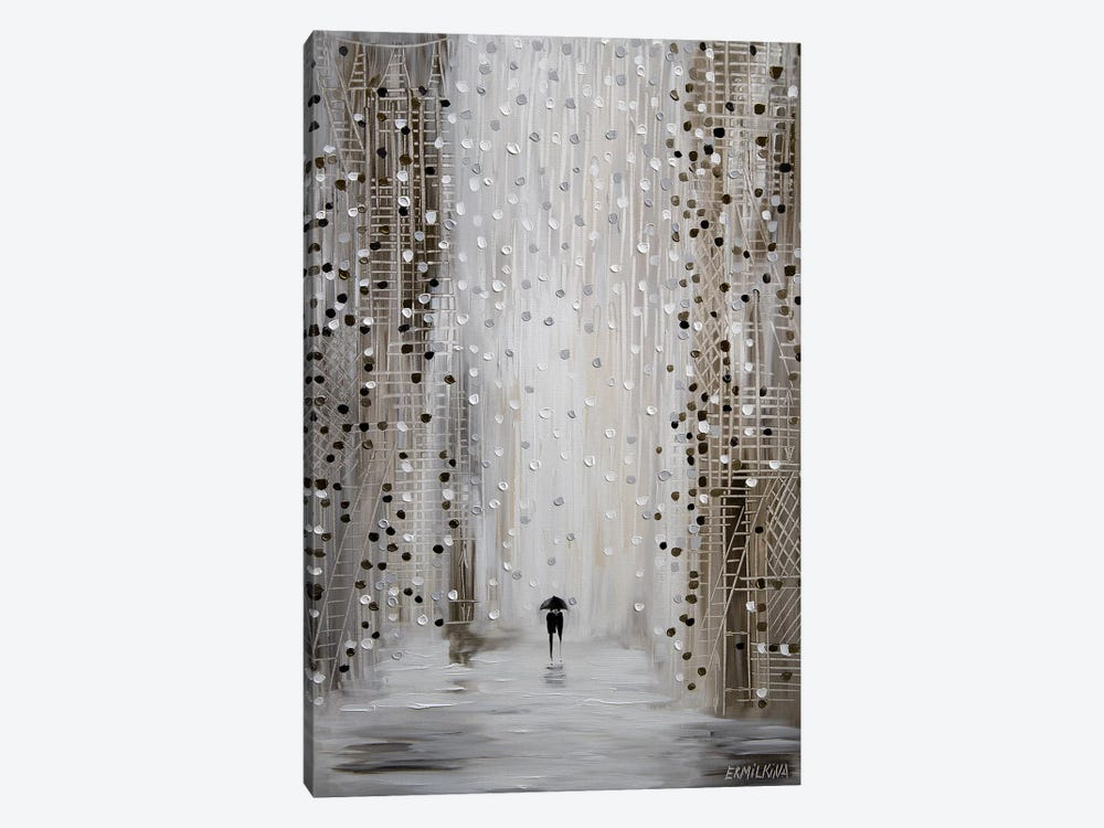 Under The Rain by Ekaterina Ermilkina 1-piece Canvas Art