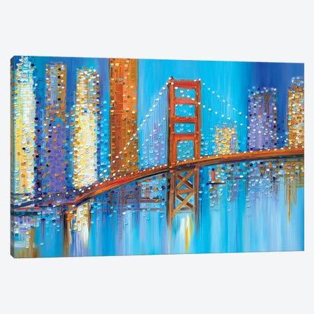 Golden Gate Bridge Canvas Print #ERM62} by Ekaterina Ermilkina Canvas Wall Art