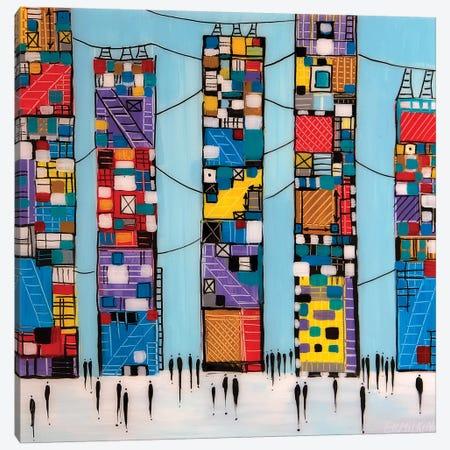 Blue Sky Canvas Print #ERM68} by Ekaterina Ermilkina Canvas Art