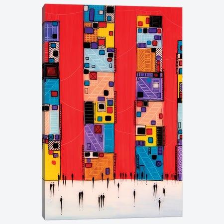 Night Manhattan Canvas Print #ERM73} by Ekaterina Ermilkina Canvas Art Print