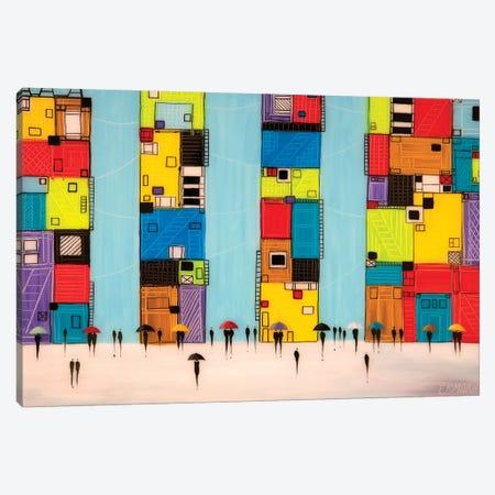 New York Umbrellas Canvas Print #ERM74} by Ekaterina Ermilkina Canvas Wall Art