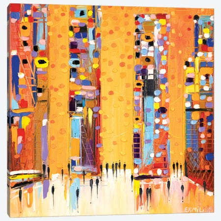 Sunset In The City Canvas Print #ERM77} by Ekaterina Ermilkina Canvas Art