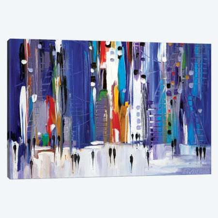 Night City Canvas Print #ERM79} by Ekaterina Ermilkina Art Print