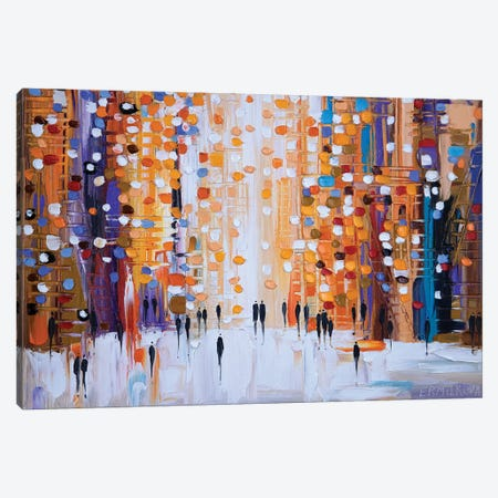 Sunset Walk Canvas Print #ERM80} by Ekaterina Ermilkina Canvas Artwork