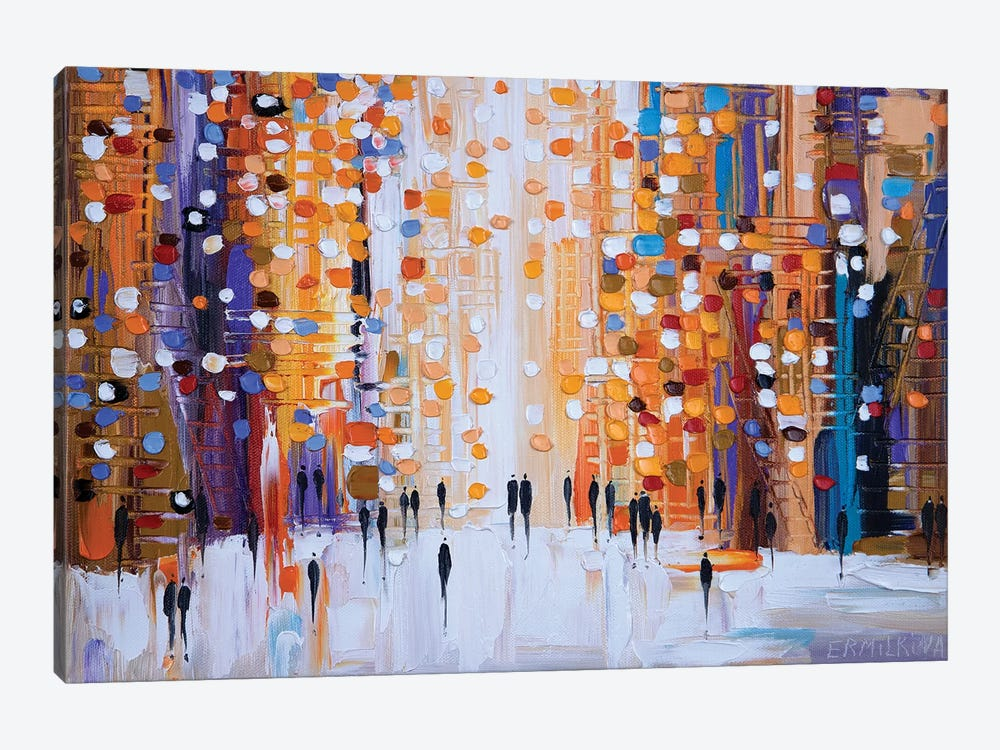 Sunset Walk by Ekaterina Ermilkina 1-piece Canvas Print