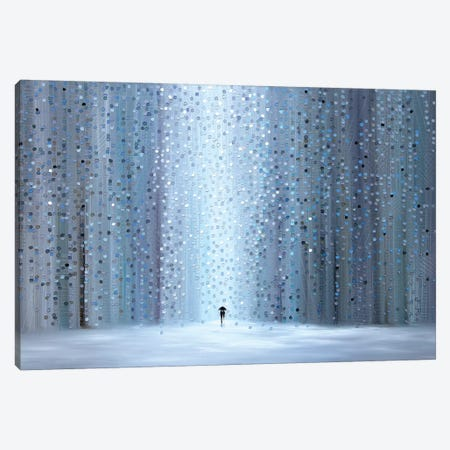 Rainy Stroll Canvas Print #ERM87} by Ekaterina Ermilkina Canvas Print