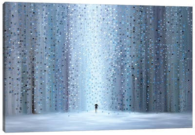 Rainy Stroll Canvas Art Print