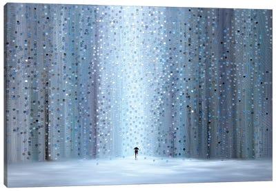 Rainy Stroll Canvas Art Print