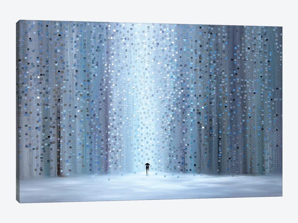 Rainy Stroll by Ekaterina Ermilkina 1-piece Canvas Wall Art