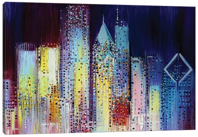 Night Skyline Canvas Art Print