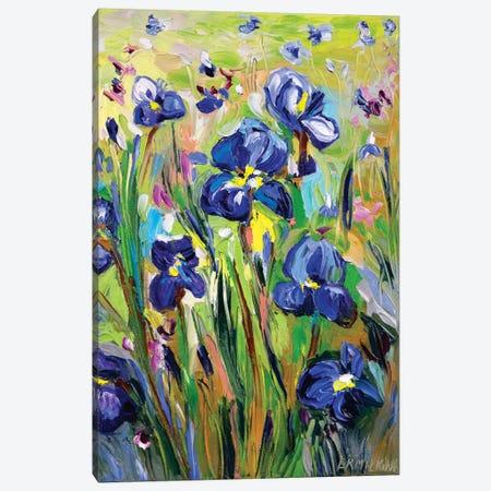 Iris Garden Canvas Print #ERM93} by Ekaterina Ermilkina Canvas Print