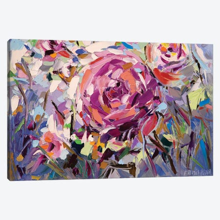 The Scent Of Roses Canvas Print #ERM95} by Ekaterina Ermilkina Canvas Wall Art