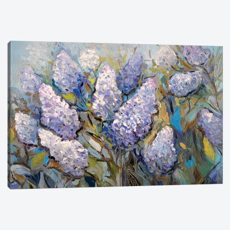 Lilacs Canvas Print #ERM96} by Ekaterina Ermilkina Canvas Art