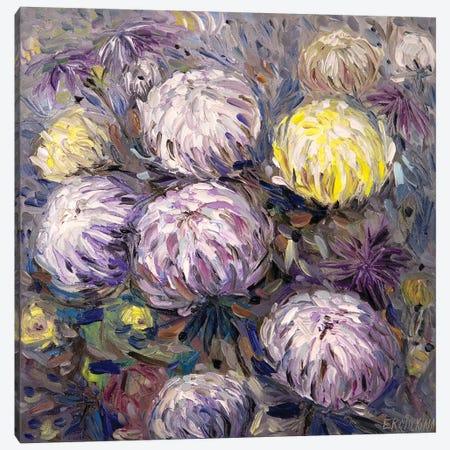 Chrysanthemums 3-Piece Canvas #ERM97} by Ekaterina Ermilkina Canvas Wall Art