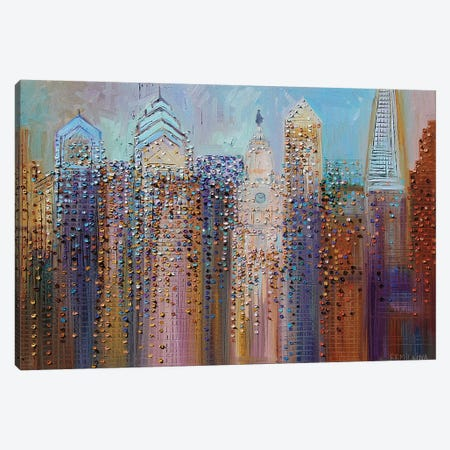 Philadelphia Dream Canvas Print #ERM9} by Ekaterina Ermilkina Canvas Artwork