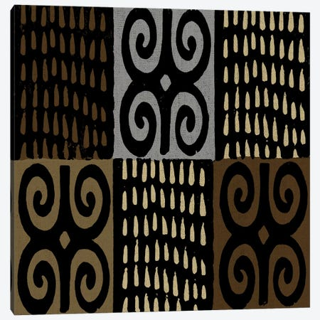 Mudcloth Geometric Design V Canvas Print #ERO100} by Ellie Roberts Art Print